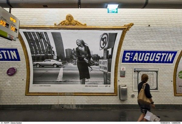 ESSAI D'AFFICHAGE 4X3 D'UNE EXPOSITION PHOTO SUR NEW YORK ANNEES 1950 DU MUSEE DU JEU DE PAUME