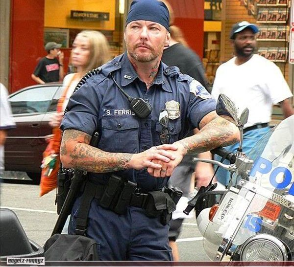 police hipster tattop