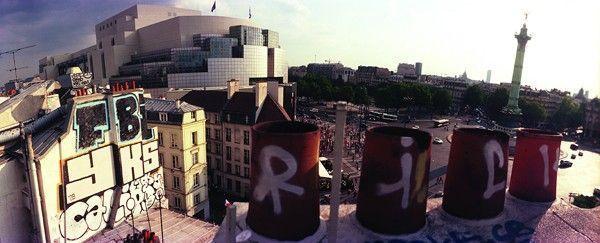 rooftop graffiti paris jean-yves donati bastille
