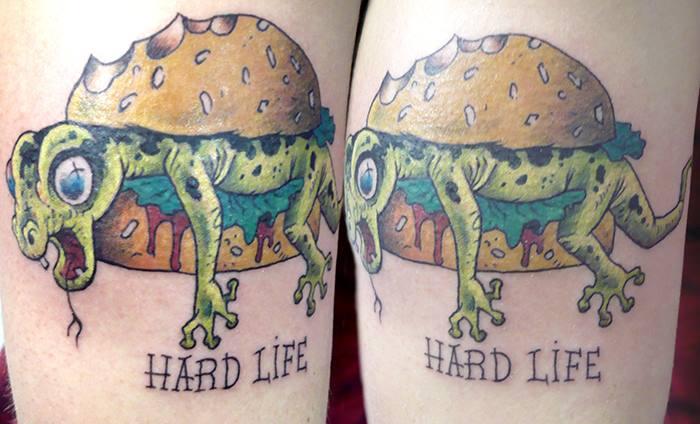 tatouage burger