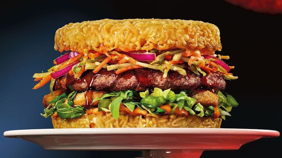 Le Red Ramen Burger