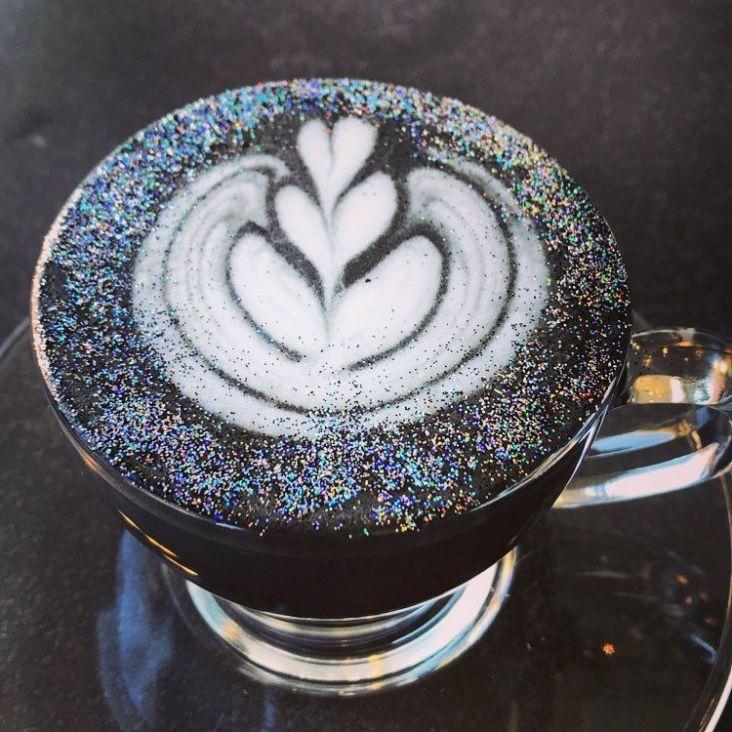 café pailleté
