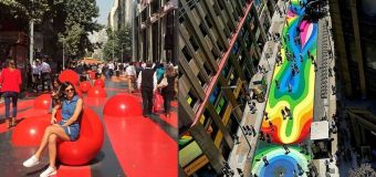 Au Chili, une rue de la capitale devient oeuvre de street-art