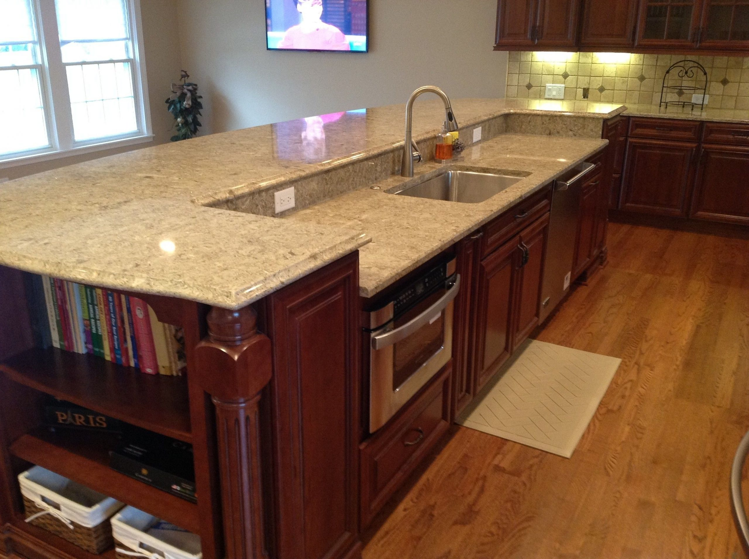 elegant kitchen island with sink and