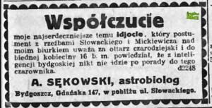 Antoni Sekowski współczuje idjocie
