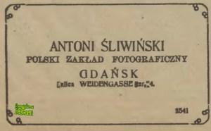 Antoni Śliwiński - anons z Gazety Gdańskiej