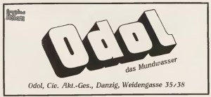 Reklama preparatu Odol z Weidengasse 35/38