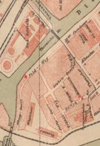Ulica Polna na mapie z 1895 r.