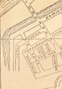 Ulica Polna na mapie z 1946