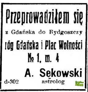 ntoni Sękowski wraca do Bydgoszczy