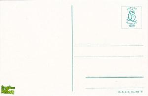 Stągwie Mleczne zimą - tył pocztówki