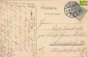 Ulica Szuwary na pocztówce z 1910 roku - tył