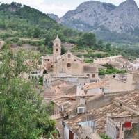 Uitzicht over het Tramuntana gebergte op Mallorca
