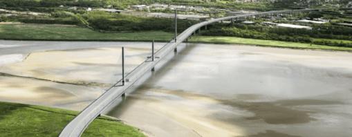 Foto: Ministerio de Relaciones Exteriores de España. El puente sobre el río Mersey en Liverpool fue construido por FCC.