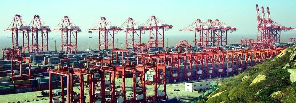 Los mayores puertos de contenedores.