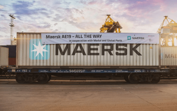 Maersk announced on Thursday an increase of up to two departures per week on its AE19 service.