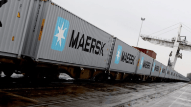 Maersk's shipment of 40 40 'containers arrived in Felixstowe, UK, on ​​March 2, after leaving Yokohama, Japan, in January and having crossed Russia both by land and by sea.