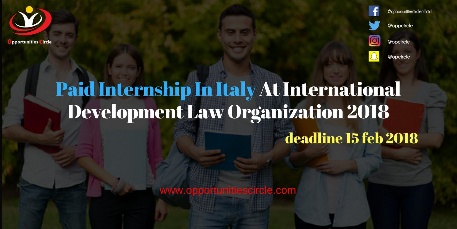 Paid Internship In Italy At International Development Law Organization 2018 - Paid Internship In Italy At International Development Law Organization 2018