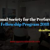 International Society for the Performing Arts Fellowship Program 2018