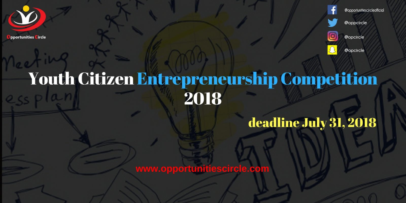 Youth Citizen Entrepreneurship Competition 2018 - Youth Citizen Entrepreneurship Competition 2018
