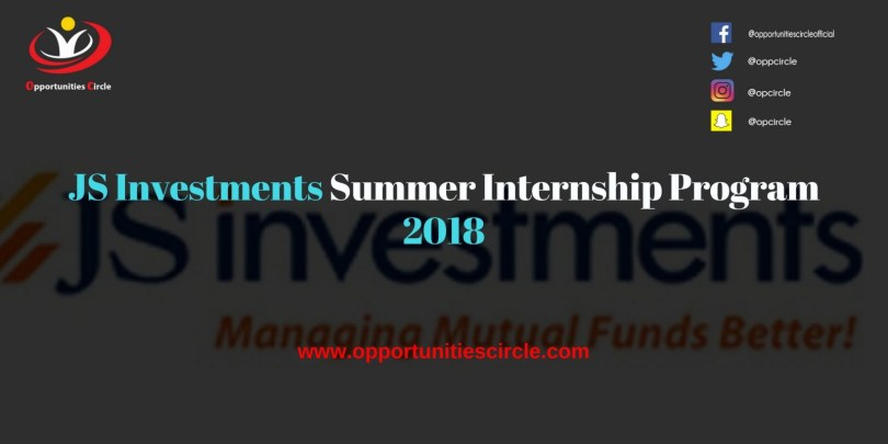 JS Investments Summer Internship Program 2018 300x150 - JS Investments Summer Internship Program 2018