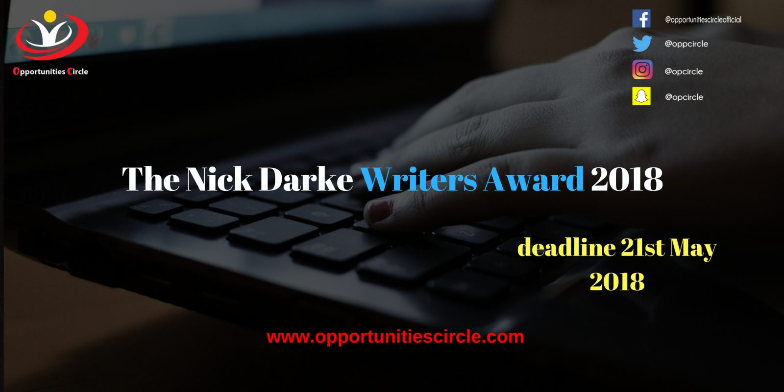 The Nick Darke Writers Award 2018 - The Nick Darke Writers Award 2018