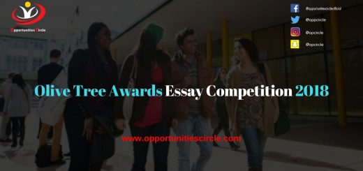 Olive Tree Awards Essay Competition 2018