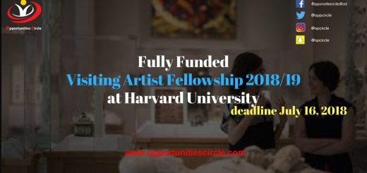 Visiting Artist Fellowship 2018/19 at Harvard University