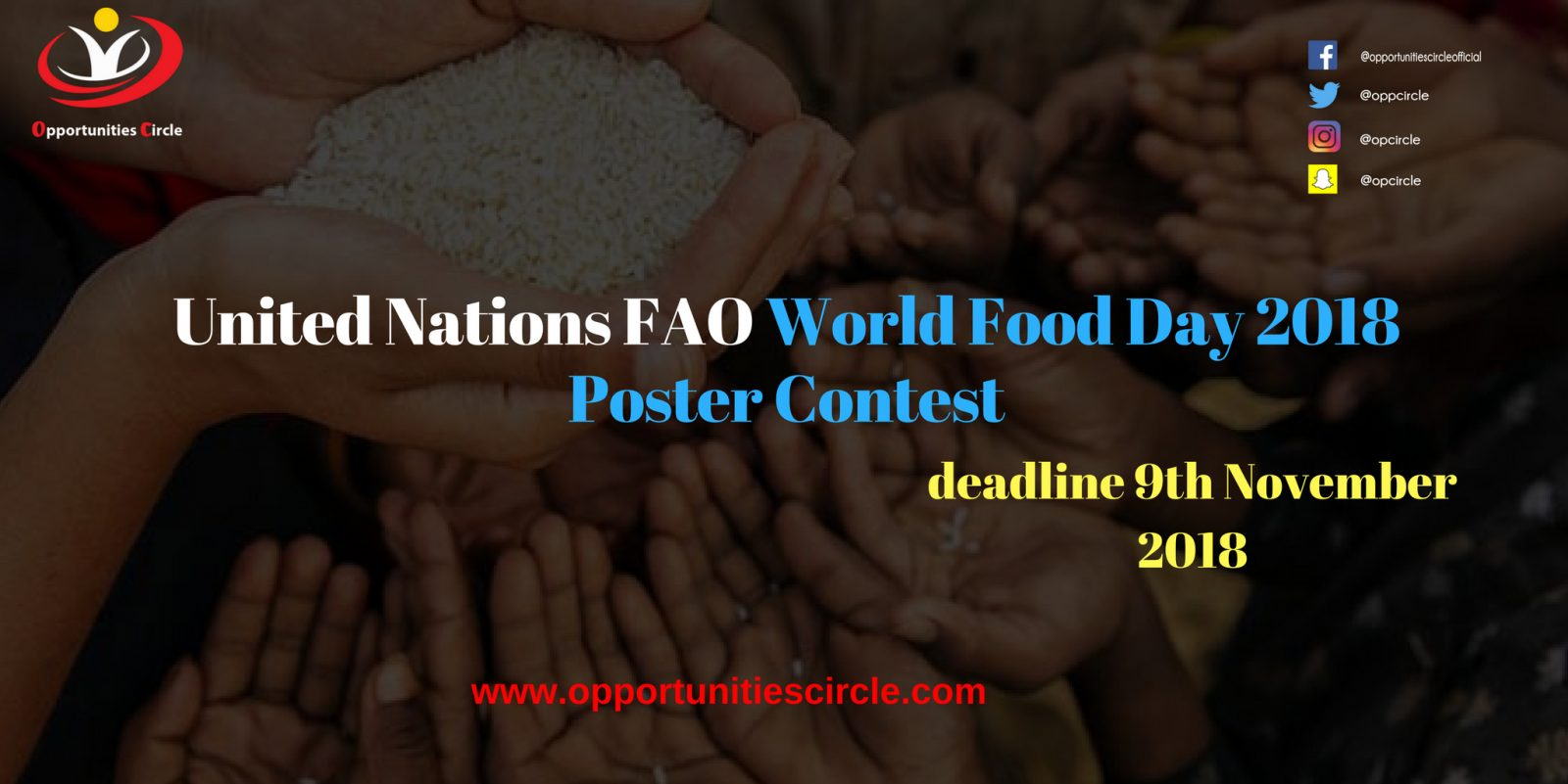 World Food Day Poster Contest 2018 - United Nations FAOWorld Food Day 2018 Poster Contest