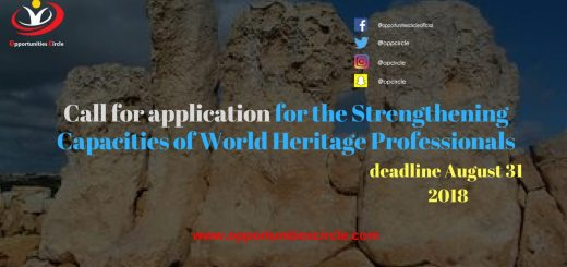 Call for application for the Strengthening Capacities of World Heritage Professionals