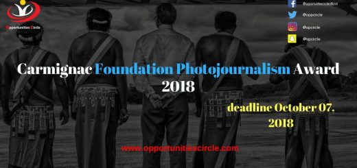 Carmignac Foundation Photojournalism Award 2018