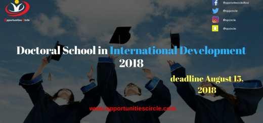 Doctoral School in International Development 2018