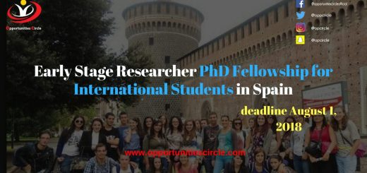 Early Stage Researcher PhD Fellowship