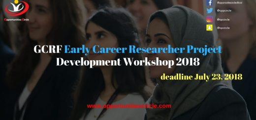 GCRF Early Career Researcher Project Development Workshop 2018