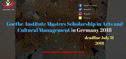 Goethe-Institute Masters Scholarship in Arts and Cultural Management in Germany 2018