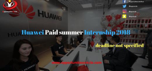 Huawei Paid summer Internship 2018