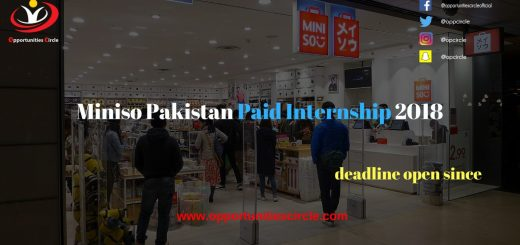 Miniso Pakistan Paid Internship 2018