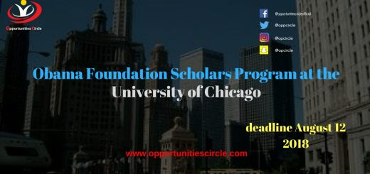 Obama Foundation Scholars Program at University of Chicago