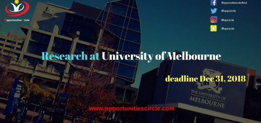 research at University of Melbourne