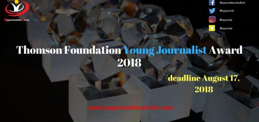 Thomson Foundation Young Journalist Award 2018