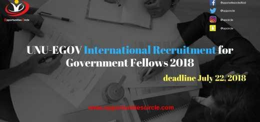 UNU-EGOV International Recruitment for Government Fellows 2018