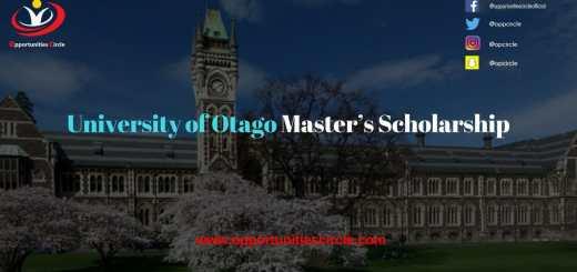 University of Otago Master's Scholarship