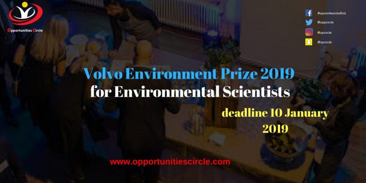 Volvo Environment Prize 2019 - Volvo Environment Prize 2019 for Environmental Scientists