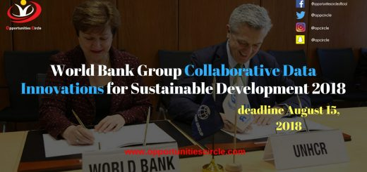 World Bank Group Collaborative Data Innovations for Sustainable Development 2018
