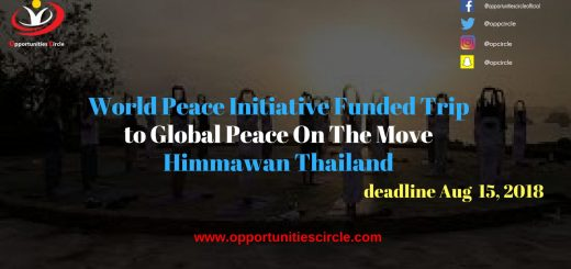 World Peace Initiative Funded Trip to Global Peace