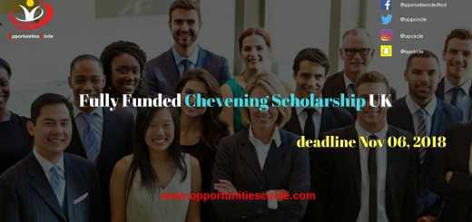 Fully Funded Chevening Scholarship UK