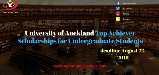 University of Auckland Top Achiever Scholarships for Undergraduate Students:
