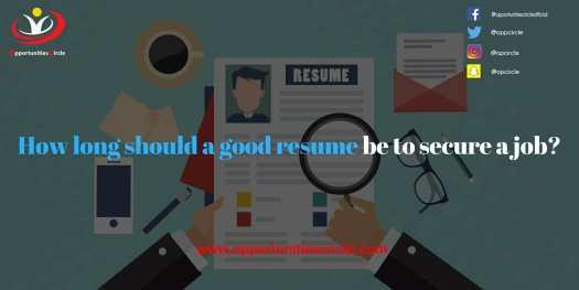 resume - Opportunities Circle Scholarships, Fellowships, Internships, Jobs