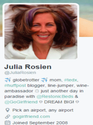 Julie Rosien twitter profile