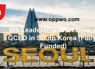 6th Leadership Workshop on GCED in South Korea (Fully-Funded)
